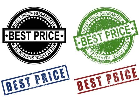 Best Price grunge sign rubber stamp set vector Çizim