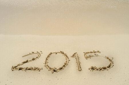 0 1 years: Beach 2015 new year