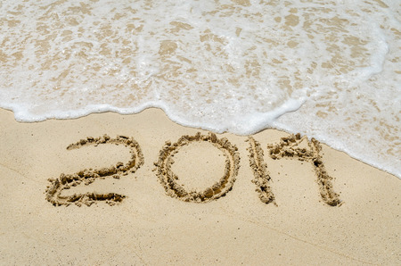 Beach and 2014 ending the year photo