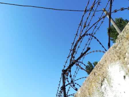 barbed wire 스톡 콘텐츠
