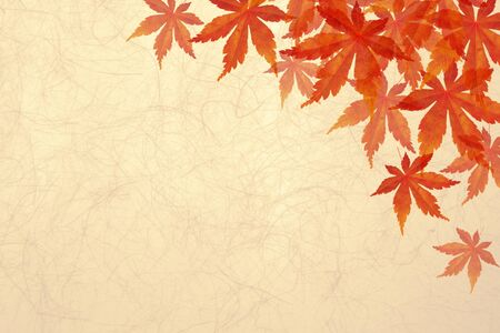 japanese maple orange background