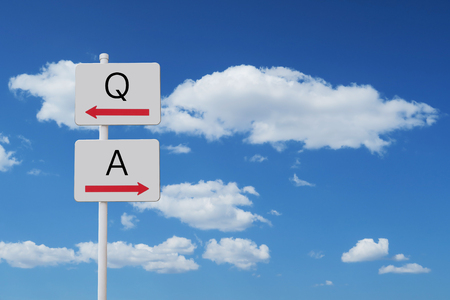 Q and A sign
