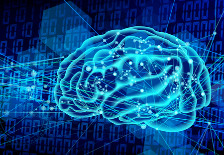 デジタル脳青技術の背景 写真素材