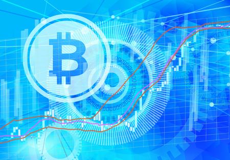 bit coin chart Stock Photo
