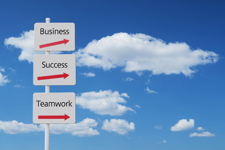 business success teamwork sign