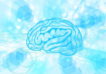 brain digital inspiration background Stock Photo
