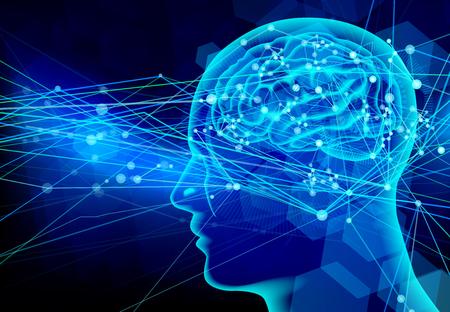 青い脳人間背景