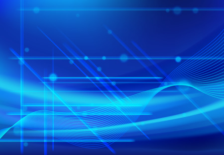 Wave Line Abstract Backgrounds blue