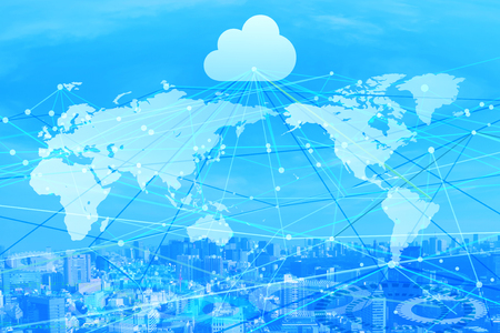 cloud business background Imagens - 91005924