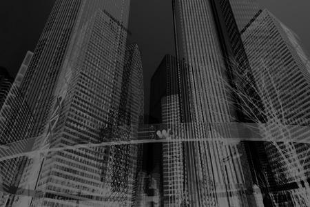 business building background black