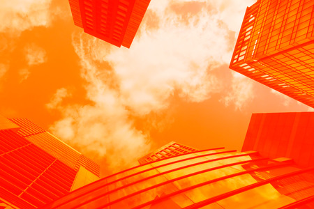 sky and building in Tokyo Japan red