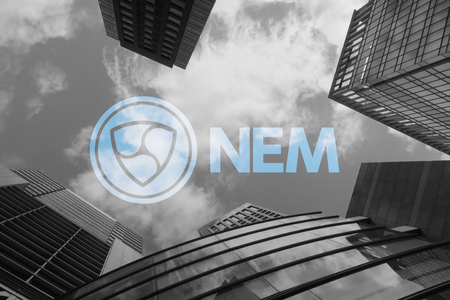 cryptocurrency coin nem business image