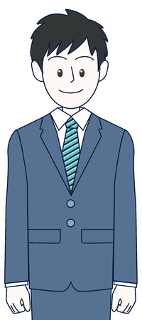 A young male businessman standing