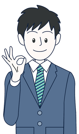 Young male businessman with a pose to hit her chest Illustration