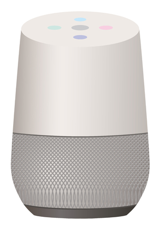 Smart speaker white background illustration material 写真素材