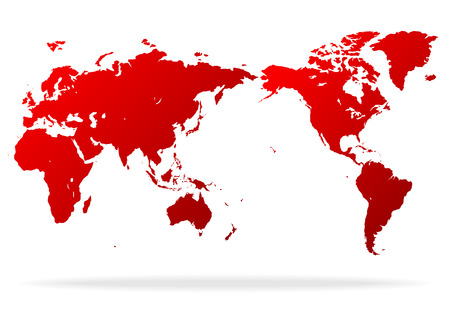 red world map Ilustrace