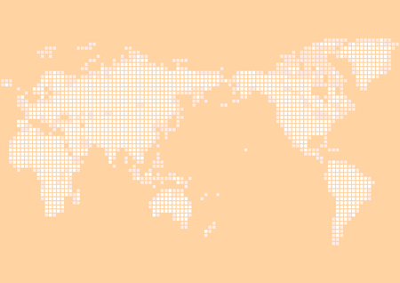orange world map Фото со стока - 120324224