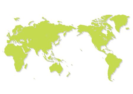 green world map Иллюстрация