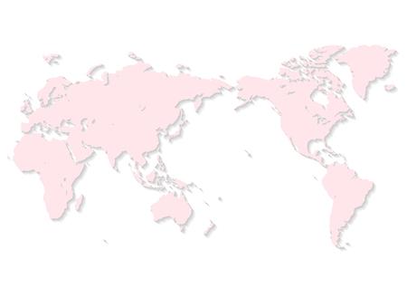 pink world map Фото со стока - 120324436