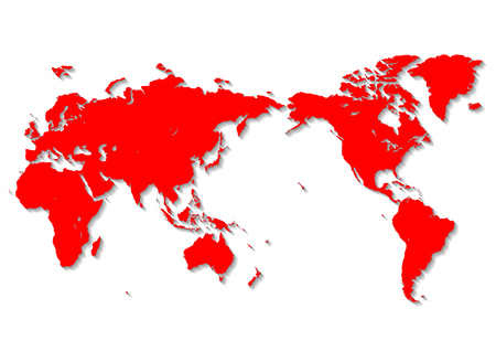 red world map  イラスト・ベクター素材