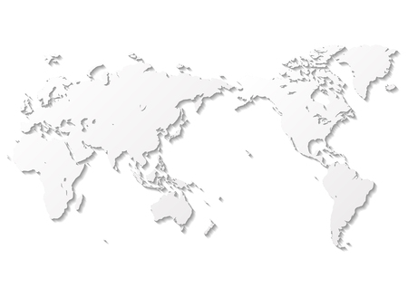 gray world map Фото со стока - 120324437