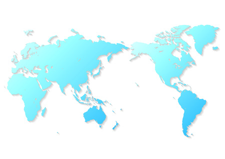 blue world map Фото со стока - 120324435
