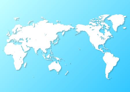 blue world map Фото со стока - 120324445