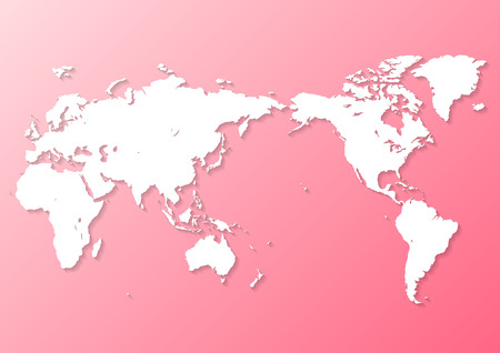 pink world map Фото со стока - 120324442