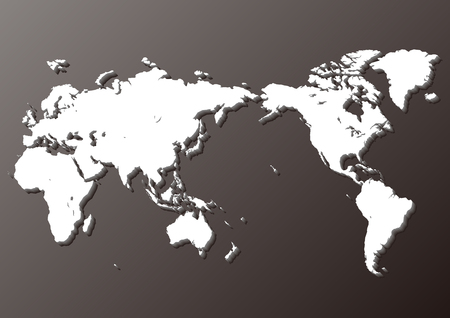 black world map Иллюстрация
