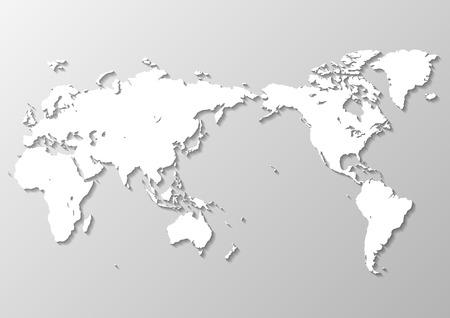 mappa del mondo grigio Vettoriali