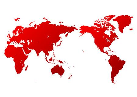 red world map Ilustração