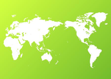green world map  イラスト・ベクター素材