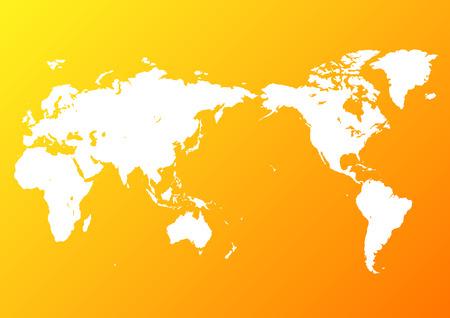 orange world map Фото со стока - 120324545