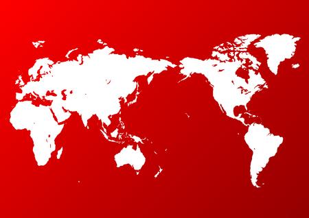 red world map Иллюстрация