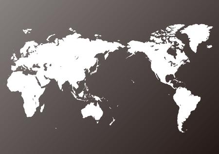 black world map  イラスト・ベクター素材