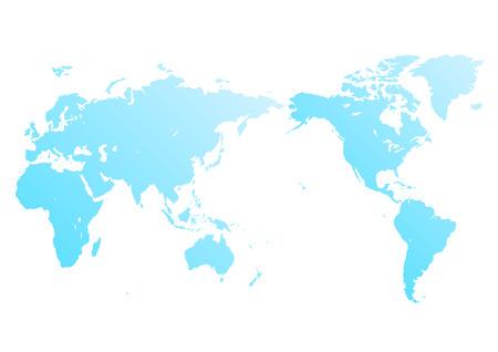 blue world map Фото со стока - 120324551