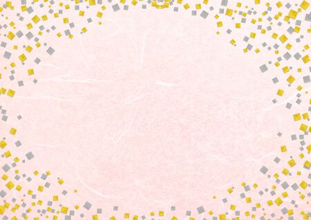 Japanese pattern and pink Japanese paper texture material