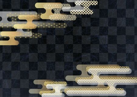 Japanese pattern and Japanese black paper texture material