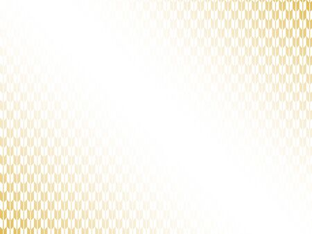 Japanese pattern and white and gold paper texture background Imagens