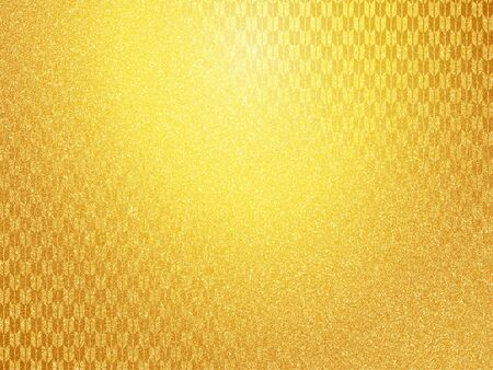 Japanese pattern and gold paper texture background