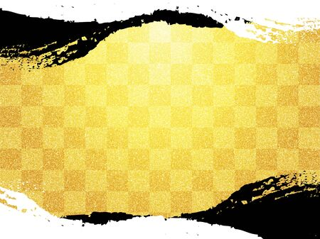 Japanese pattern and gold and white paper texture background Imagens
