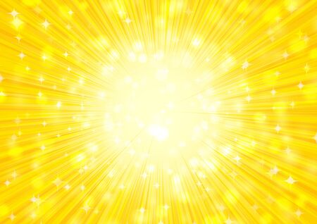 yellow  radial glitter background Imagens