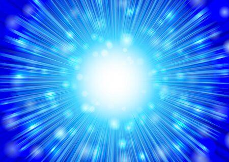 blue radial glitter background