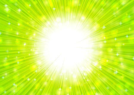 green radial glitter background