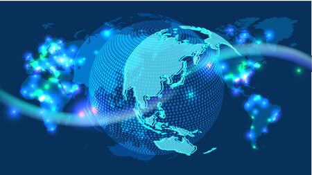 Cyber Digital Earth and world  network image background