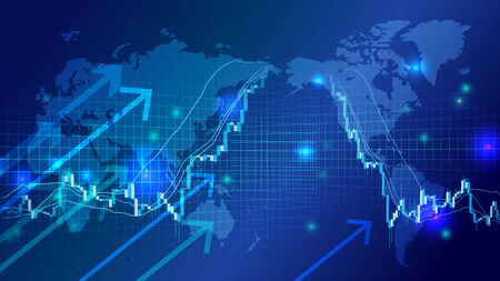 Cyber digital stock chart image background
