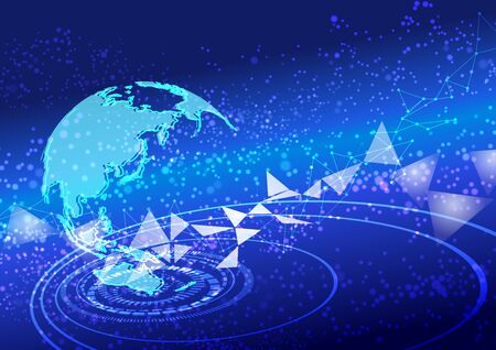 blue global technology abstract background