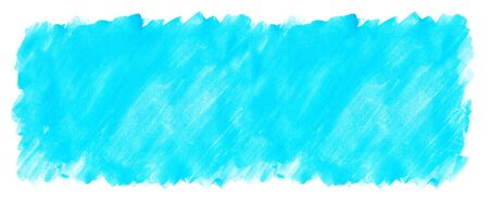 Blue watercolor paint painted color spot texture Imagens