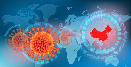Image of stock price decline due to coronavirus in China