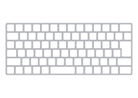 Computer keyboard and and mouse white background Vetores